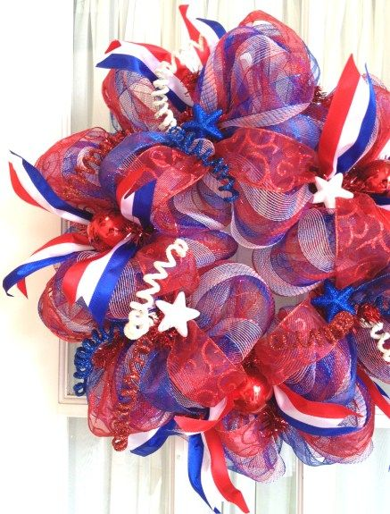 4th of july mesh wreaths to make