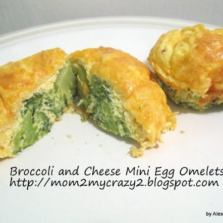: Egg Mini Omelets with Broccoli and Cheese (WW 2pts) | Recipe | Mini ...
