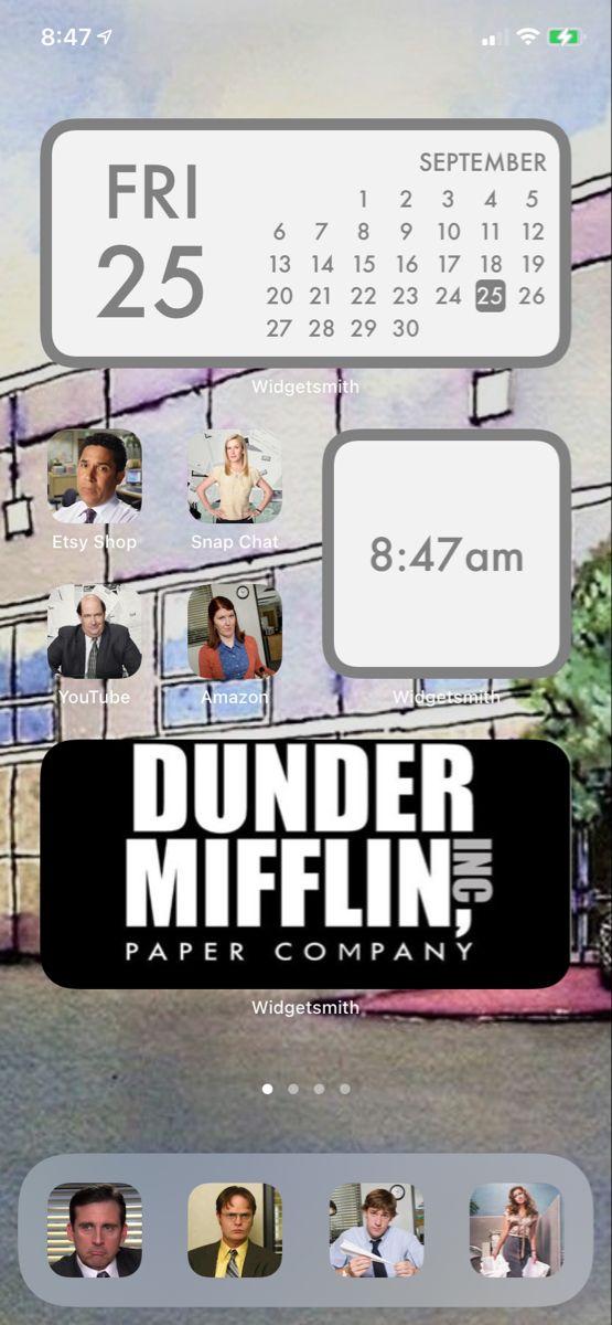 Dunder Mifflin Office Layout : dunder, mifflin, office, layout, Screen, Layout, Office, Homescreen,, Homescreen, Iphone,