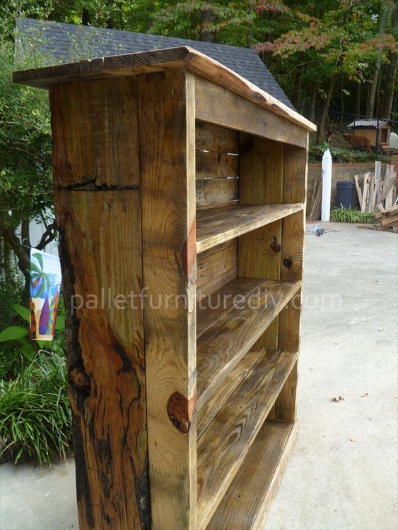 Pallet Bookcase Tutorial Pallet Furniture DIY Favorite
