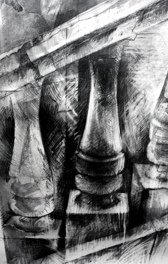 Ian Murphy  Venice Drawing detail Graphite and Turpentine