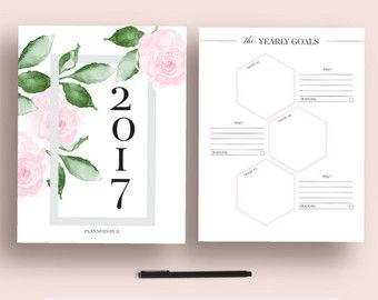 2017 planificador imprimible 2017 mensual por EllagantInk en Etsy