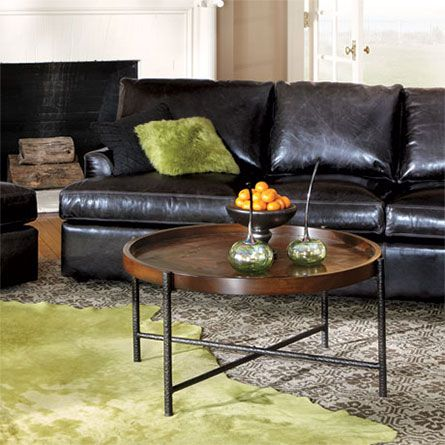 Palencia 34 Round Coffee Table With Iron Base Coffee Tables Pinterest Furniture Trunks