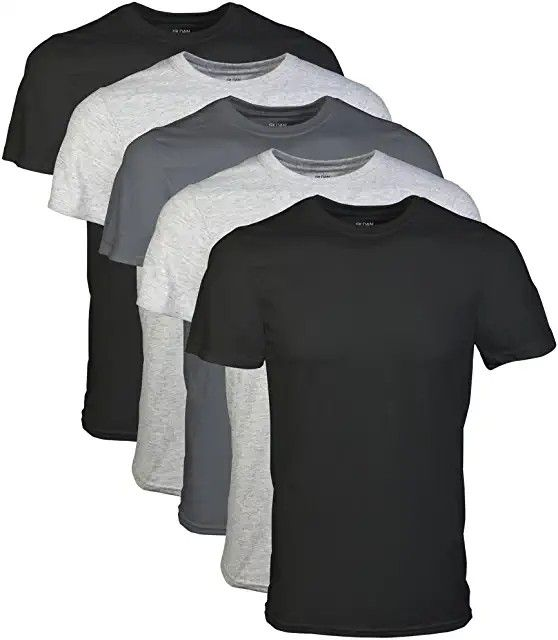 Gildan Men S Crew T Shirt Multipack In 2020 Long Sleeve Tshirt Men Shirts Mens Tshirts