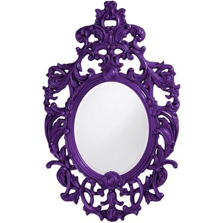 Bold wall mirror in royal purple