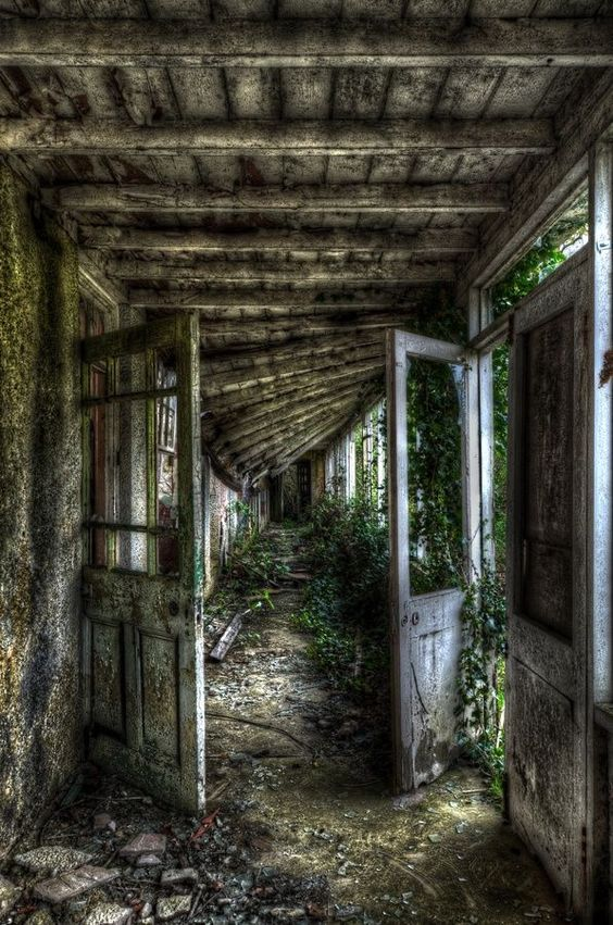 crescentmoon HDR #abandonedplaces Entrance This Way! by Matthew Pearce on 500px
