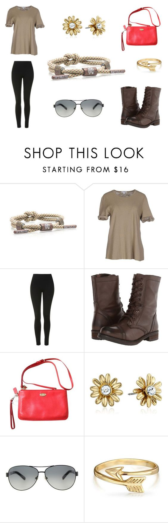 """Knotaclat: Grounds"" by rastaclat-official ❤ liked on Polyvore featuring James Perse, Topshop, Steve Madden, Coach, Kate Spade, Bling Jewelry, ootd, accessories, fashionset and rastaclat"