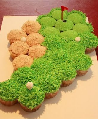 Cupcake Decorating Ideas For Boyfriend : Hole in one Cupcakes Birthdays, Cakes and Golfers