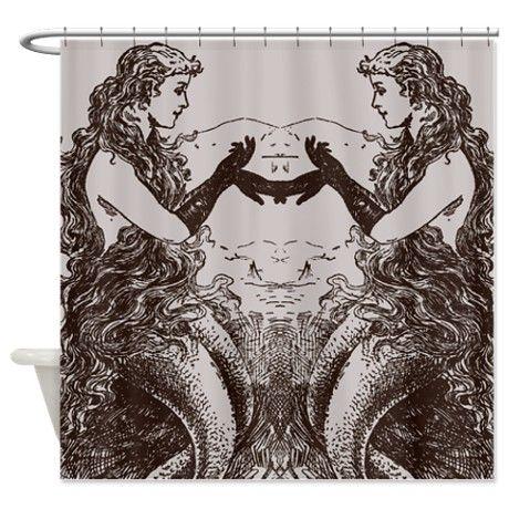 Vintage Mermaids Shower Curtain | Mermaids, Vintage and Vintage ...
