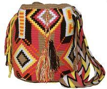 Wayuu Medio Bolsa Diseño Rastafari