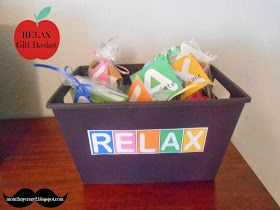 Running away? I'll help you pack.: Personal Gift Idea .... RELAX Gift Basket