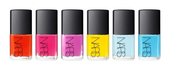 A rainbow of nail colors from Nars. Makes me happy just to look at them.: