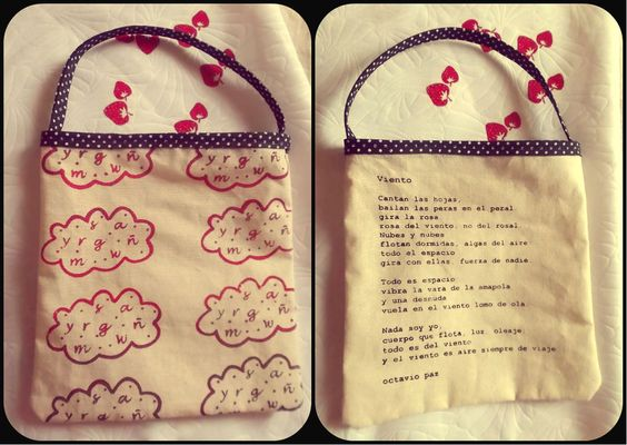 serigrafía sobre tela{bolsas pequeñas + poesía}