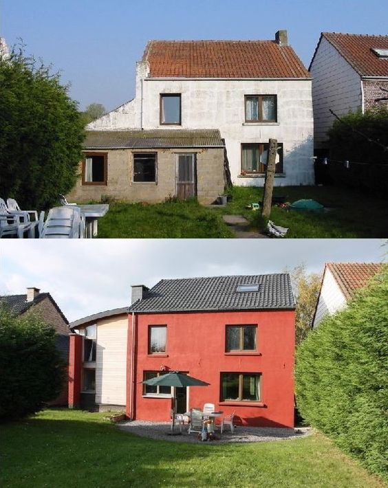 Maison r nov e avantapres renovation maisons r nov es pinterest r novation for Maison renovee