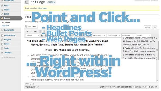 Paper Template wordpress template supports sales letters, opt in pages etc
