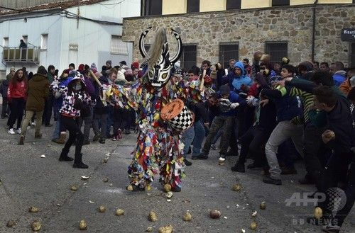 スペインのカブ投げ祭り「ハランプラ」