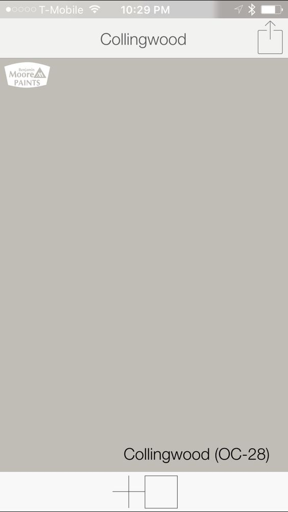 Warm gray paint colors from benjamin moore collingwood oc for Warm grey paint colors