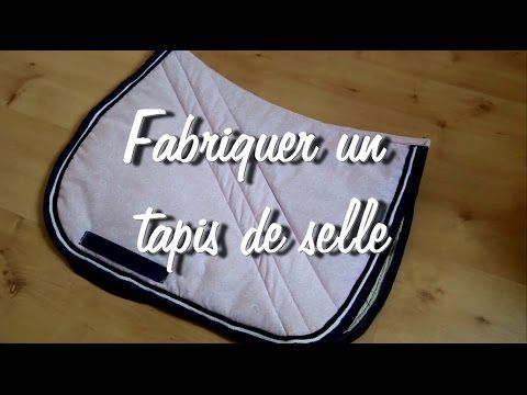 tuto 6 fabriquer un tapis de selle tutoriel d taill. Black Bedroom Furniture Sets. Home Design Ideas