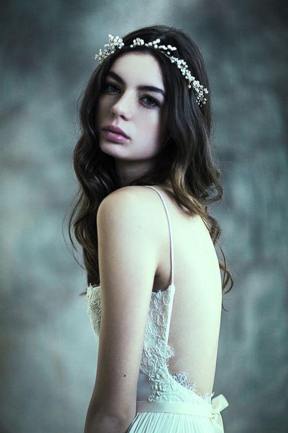 ~floral headband dress fashion photograph by Emily Soto