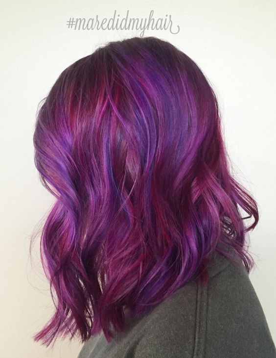 Burgundy And Purple Hair Color