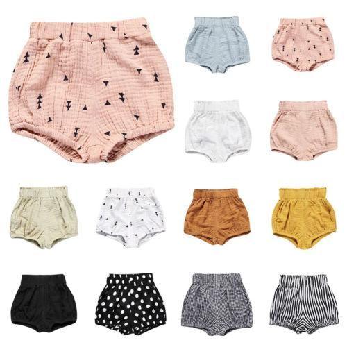 Infant Baby Toddler Little Boys Girls Kids Harem Pants Pure Color Baby Short