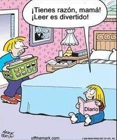Tienes razón mamá ¡Leer es divertido! #humor #libros