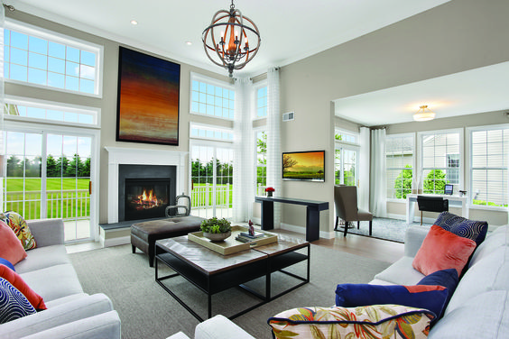 Living Room of the Channing Model at the Highlands Club on The North Fork