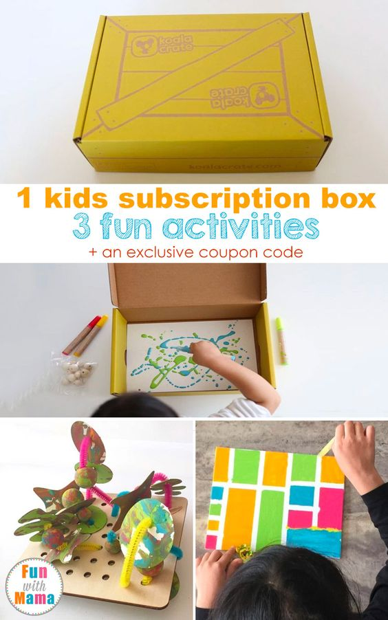 Koala crate by kiwi crate review with discount code for Kid craft subscription box