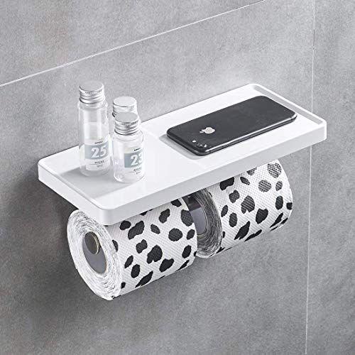 Aimadi Porte Papier Toilette Montage Mural Blanc En 2020 Porte Papier Toilette Derouleur Papier Toilette Papier Toilette