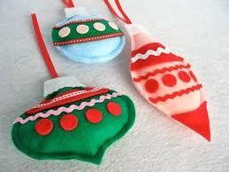 adornos caseros para navidad! pueden ser de fieltro o de tela!!!