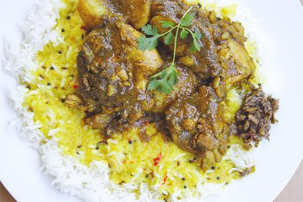 Dhal rice and curry chicken | Trini Food | Pinterest ...