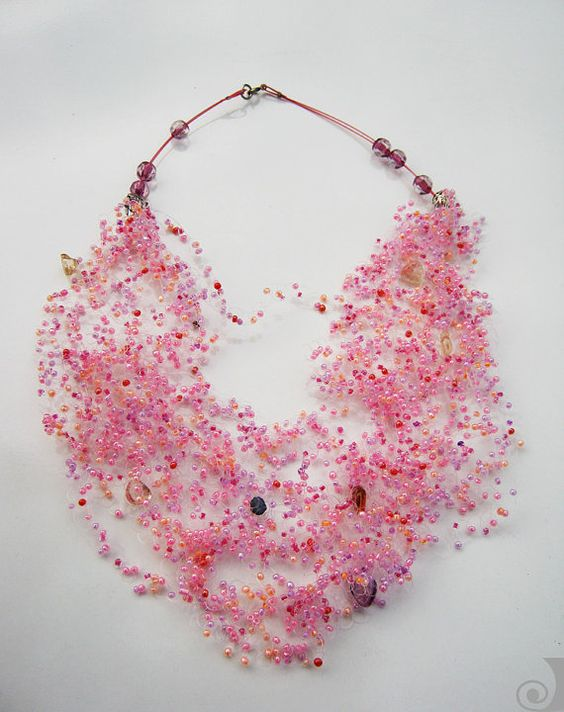 Hey, I found this really awesome Etsy listing at https://www.etsy.com/listing/97620829/seed-beads-airy-crochet-necklace