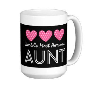 "World's Most Awesome AUNT Star Pattern Hearts V02 Classic White Coffee Mug (<em data-recalc-dims=""1"">$21.45</em>)"