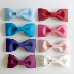 How to make fabric bows for hair clips, bowties, gift embellishments, etc.