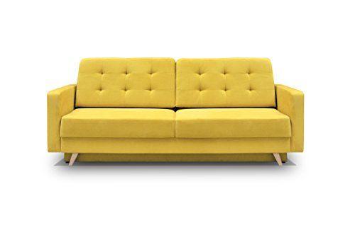 Vegas Futon Sofa Bed Queen Sleeper With Storage Yellow Futon Sofa Bed