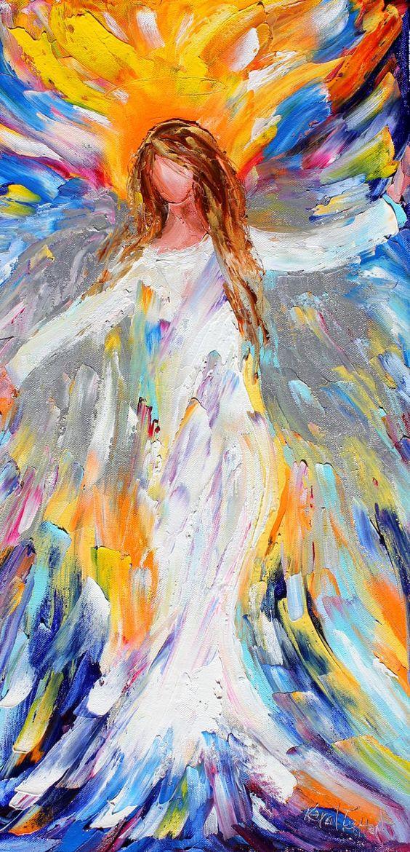 aahh angels angels art angels wings watercoulering painting angel art ... Oil Paintings Of Angels
