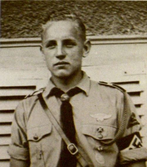Erich Hartmann in his Hitler Youth Uniform