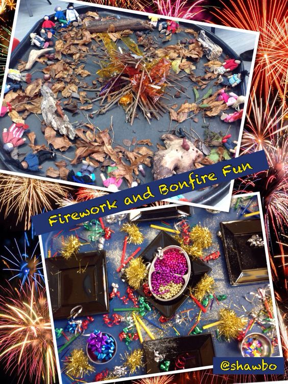 Firework and bonfire activities
