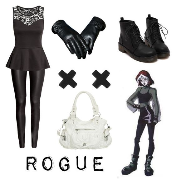 """Rogue from X-men"" by krusi611 ❤ liked on Polyvore featuring moda e H&M"