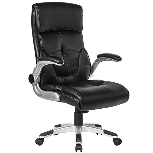 Executive Office Chair High Back Computer Chairs With Flip Up Arms Ergonomic Leather Chair With Headrest Lu Executive Office Chairs Office Chair Computer Chair