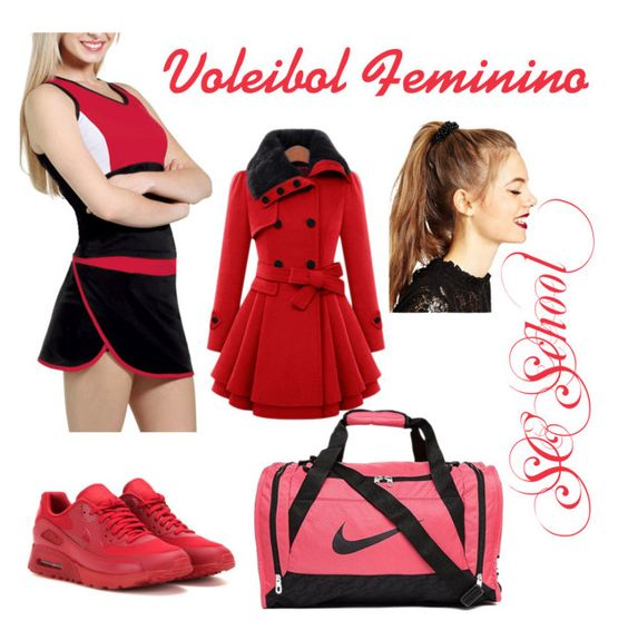 """Voleibol n°1 SC School"" by aniely-garcia-goncalves on Polyvore featuring beauty, NIKE and ASOS"