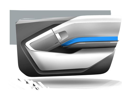 Bmw I3 Interior Design Sketch Door Panel Id Pinterest Cars Interior Design Sketches