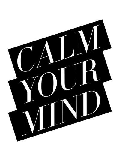 Calm Art Print via Note to Self