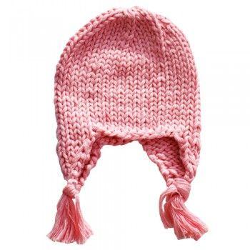 The Blueberry Hill Baby Girls Pink Knit Tassel Hat Size Newborn