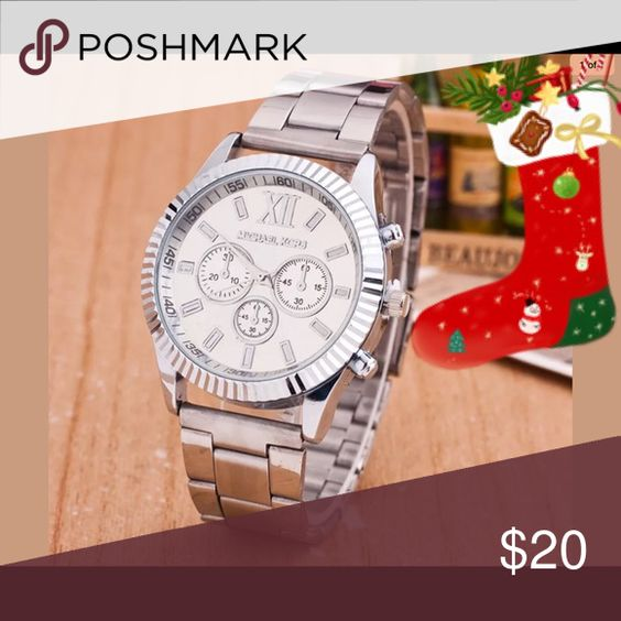 FASHION CRYSTAL SILVER TONE WATCH ⌚️ New Accessories Watches