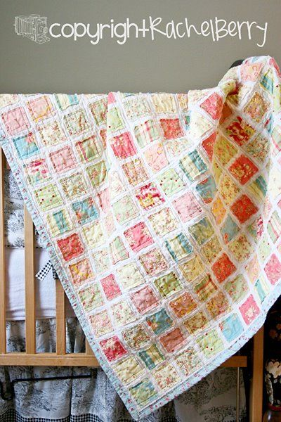 beautiful baby quilt: