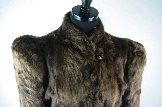 Vintage Hunecks Dept store womens Lamb Fur Coat