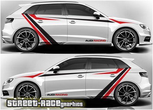 Audi A3 Rally Racing Graphics Stiker Mobil Mobil Sport Mobil