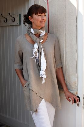 Linen Tops, Trousers, Jackets, Shirts ,Skirts, and Dresses at Sahara... I love this top
