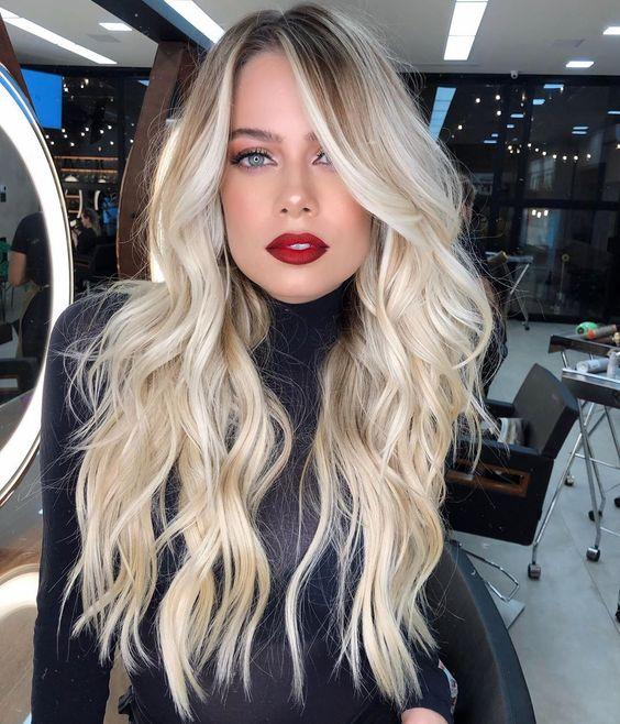cabelos com loiro perolado clarissimo